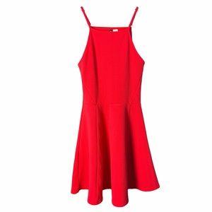 H&M Halter Top Red Dress, size 4